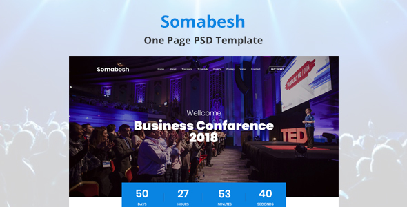 Somabesh - One Page Event and Conference PSD Template