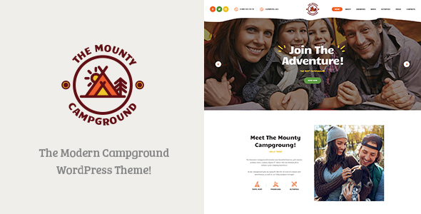 Image of The Mounty | Campground & Camping WordPress Theme