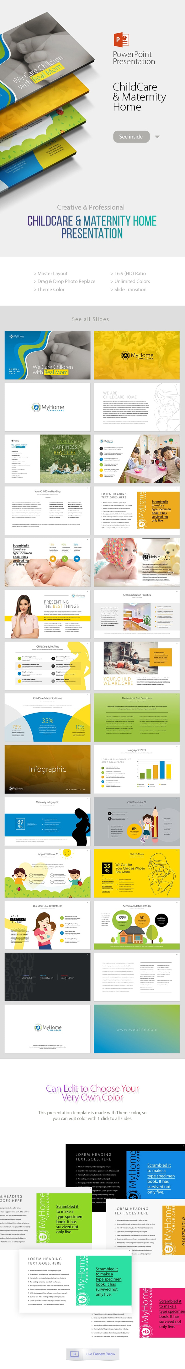 Child Care & Maternity Home Powerpoint Presentation - Business PowerPoint Templates