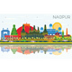 Nagpur India City Skyline with Color Buildings - GraphicRiver Item for Sale