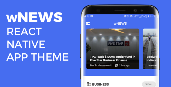 wNEWS React Native App Theme            Nulled