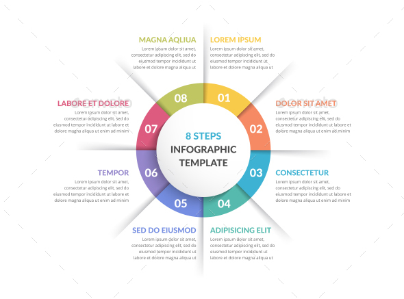 Circle Infographics with Eight Elements - Infographics