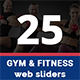Gym and Fitness Multipurpose Banners - 25 Designs - GraphicRiver Item for Sale