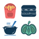 Food And Drinks Vector Isolated Icons - GraphicRiver Item for Sale