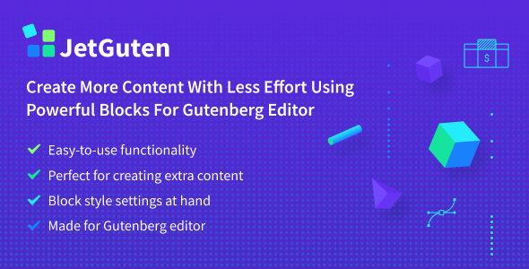 JetGuten — Blocks Set Addon for Gutenberg Editor            Nulled
