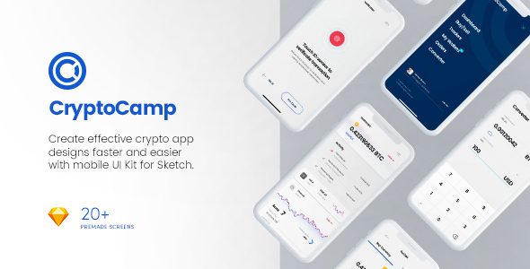 CryptoCamp Mobile UI Kit - Sketch Templates