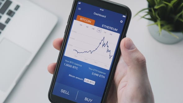 Buying bitcoin using smartphone app by vkasintsev videohive play preview video ccuart Choice Image