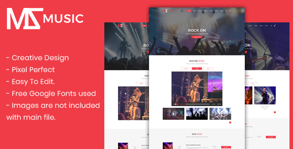 Msmusic - Music PSD Template - Entertainment PSD Templates