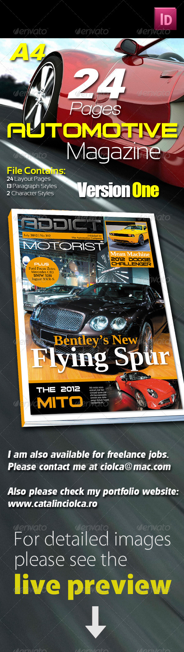 24 Pages Automotive Magazine Version One - Magazines Print Templates