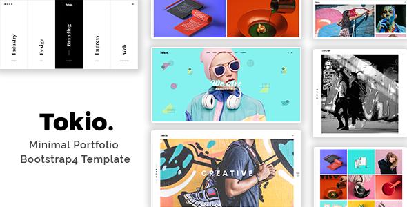 Tokio - Minimal Portfolio Bootstrap4 Template - Portfolio Creative