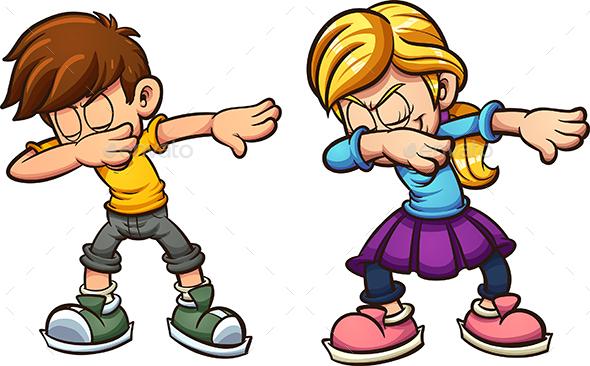 Dabbing Kids - People Characters