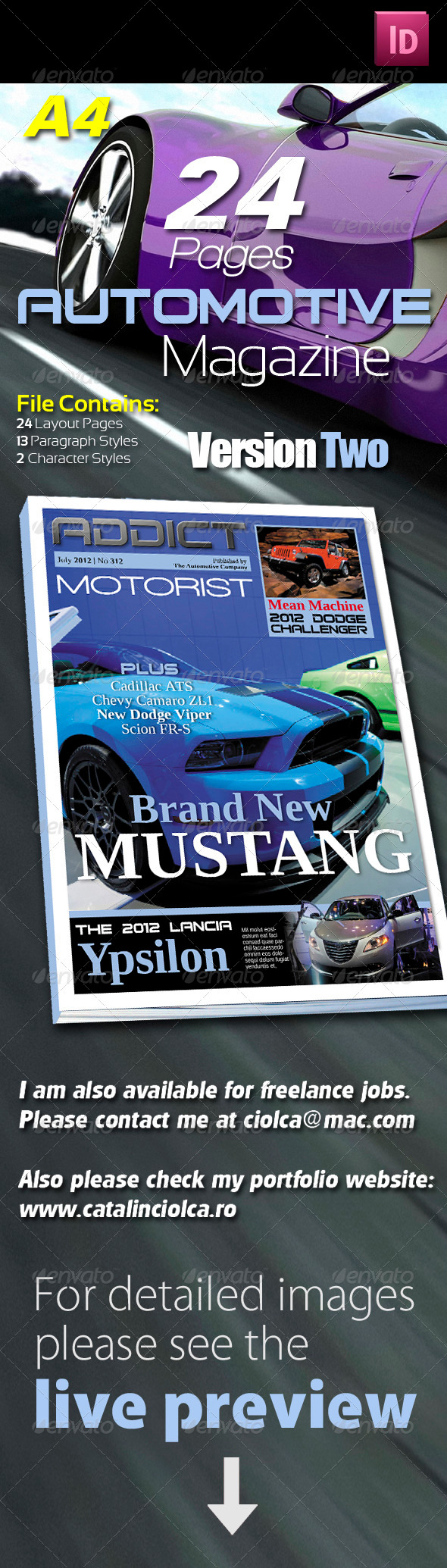 24 Pages Automotive Magazine Version Two - Magazines Print Templates