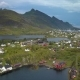 Aerial View of Small Village in Norway, Sorvagen - VideoHive Item for Sale
