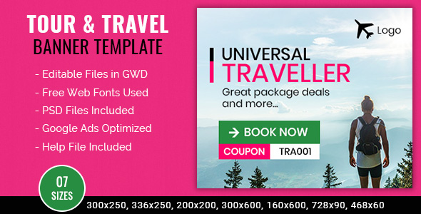 Tour & Travel | Universal Traveler Banner - 7 Sizes            Nulled