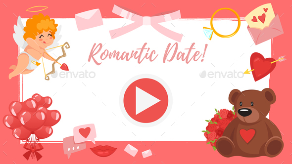 Video and Photo Frame Background - Valentines Seasons/Holidays