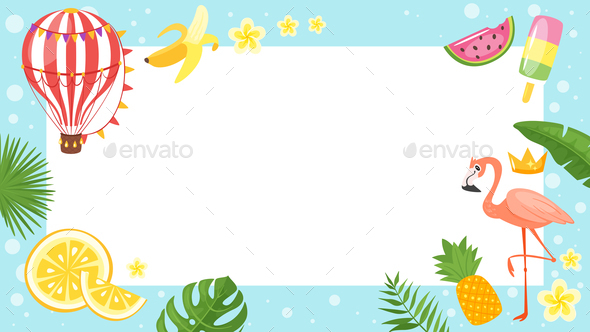 Summer Season Frame - Borders Decorative