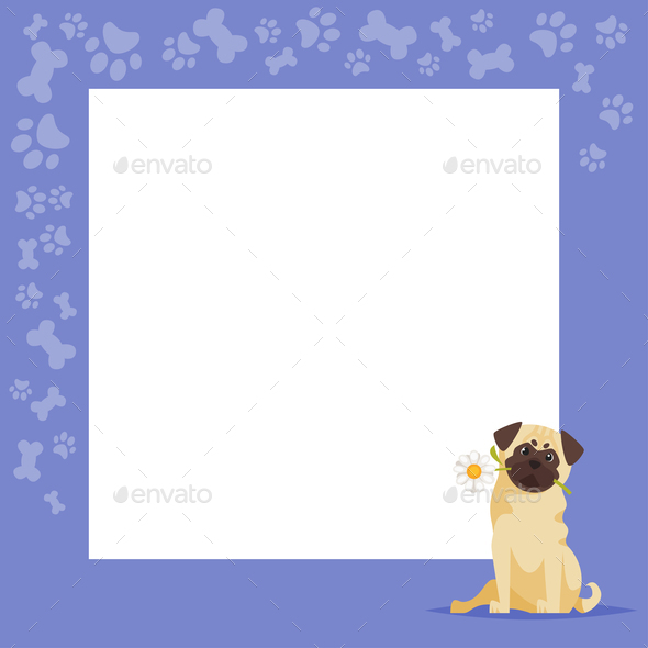 Pug Background - Animals Characters