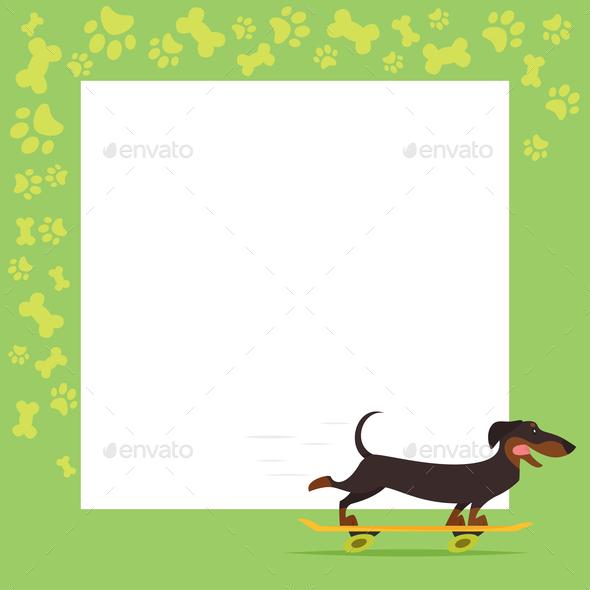 Dachshund Background - Animals Characters