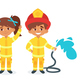 Kids in Firefighter Uniform - GraphicRiver Item for Sale