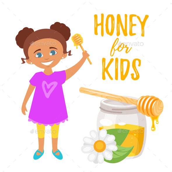 Honey for Kids Illustration - Food Objects
