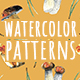 All Seasons Watercolor Patterns