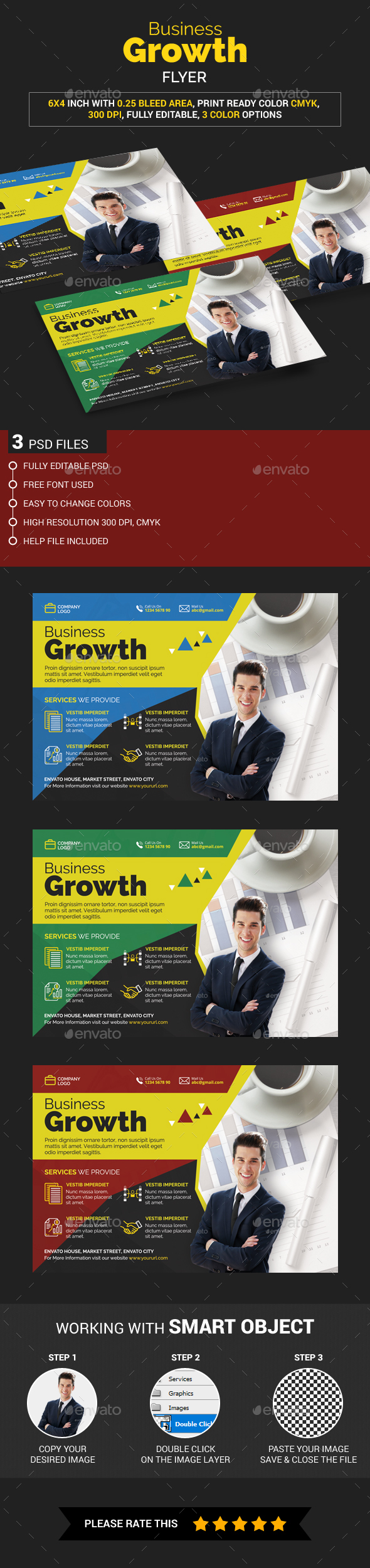Business Growth Flyer - Corporate Brochures
