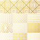 Geometric Golden Pattern Backgrounds - GraphicRiver Item for Sale