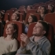 Funny Spectators Applaud in Theater. People Clapping Hands at Theater - VideoHive Item for Sale