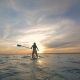 Sportswoman on a Paddleboard in the Ocean - VideoHive Item for Sale