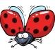 Cartoon Flying Ladybug