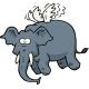 Doodle Flying Elephant