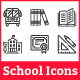 Education and School Icons - GraphicRiver Item for Sale