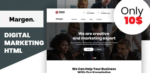 Margen -Seo & Digital Marketing Template - Technology Site Templates