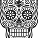 Day of The Dead Skull Vector Set in Black and White - GraphicRiver Item for Sale