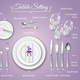 Formal Dinner Place Setting Infographics