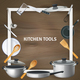 Realistic Kitchen Tools Frame Background