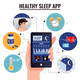 Healthy Sleep App Design Concept