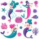 Mermaids Sea Life Set - GraphicRiver Item for Sale