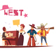 Wild West Cartoon Background