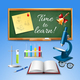 Time To Learn Realistic Illustration - GraphicRiver Item for Sale