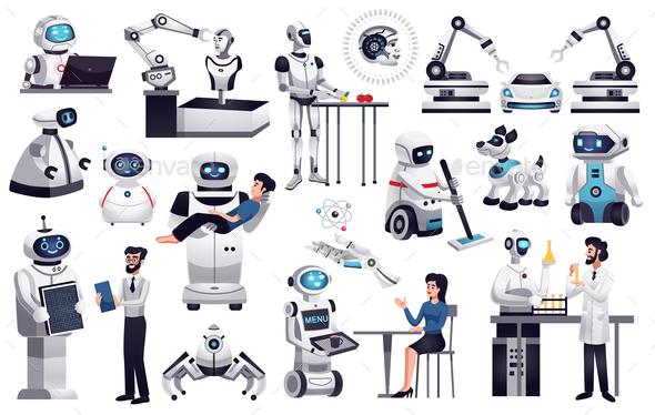 Robots Artificial Intelligence Set - Health/Medicine Conceptual