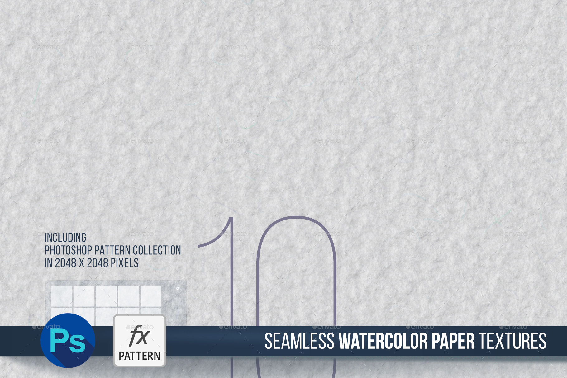 10 Seamless Watercolor Paper Texture