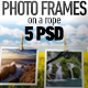 Photo-Image Frames on a Rope Photoshop Mock-ups