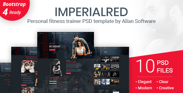 Imperialred - Personal Trainer Website PSD Template - Personal PSD Templates