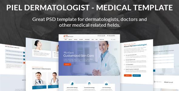 Piel - Dermatologist Medical PSD Template - Health & Beauty Retail
