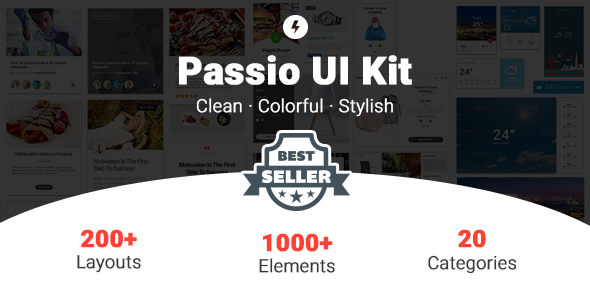 Passio - Huge Layout Collection and UI Kit Library for Web & App Design - Sketch Templates