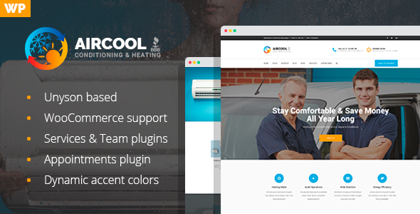 AirCool - Conditioning And Heating WordPress theme - Business Corporate