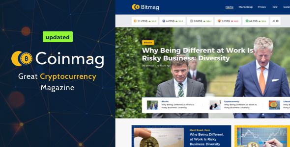 Coinmag - CryptoCurrency Blog WordPress Theme - News / Editorial Blog / Magazine