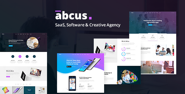 Abcus - SaaS, Software & Digital Agency Template