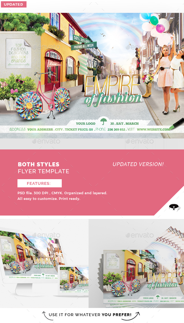 Empire Of Fashion Flyer Template - Flyers Print Templates